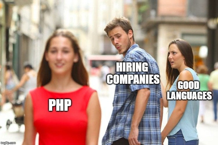 PHP, WordPress, même combat.